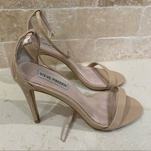 Steve Madden (Used) Nude Ankle Strap Heels - Sz 8